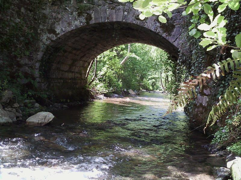 old stone bridge entrance to cottage
