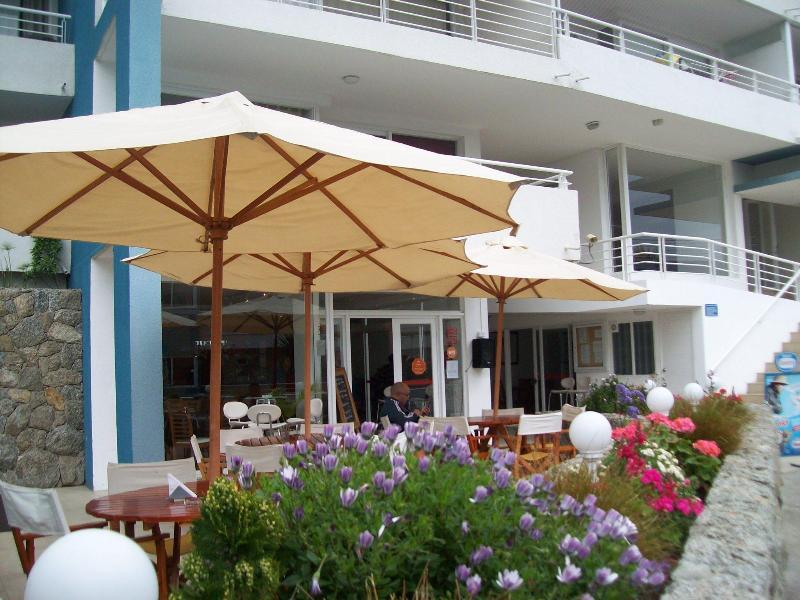 Cafeteria, restaurant in the condo