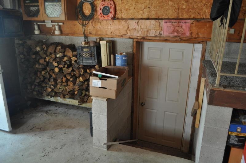 Wood for fireplaces - Lower Level Entry