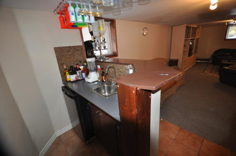 Wet Bar in Family Room