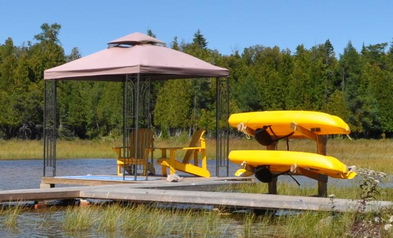 New Dock Addition with Kayaks
