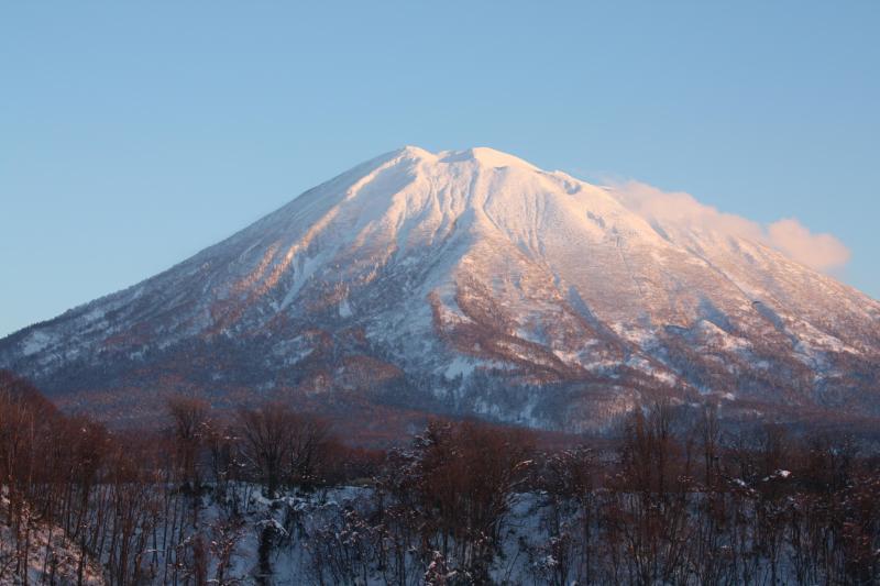 Sun catching Mt Yotei - from bedroom window