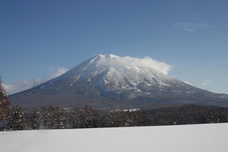 Famous Mount Yotei from bedroom window