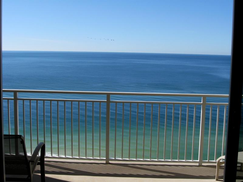 View of the Gulf of Mexico from your private balcony.