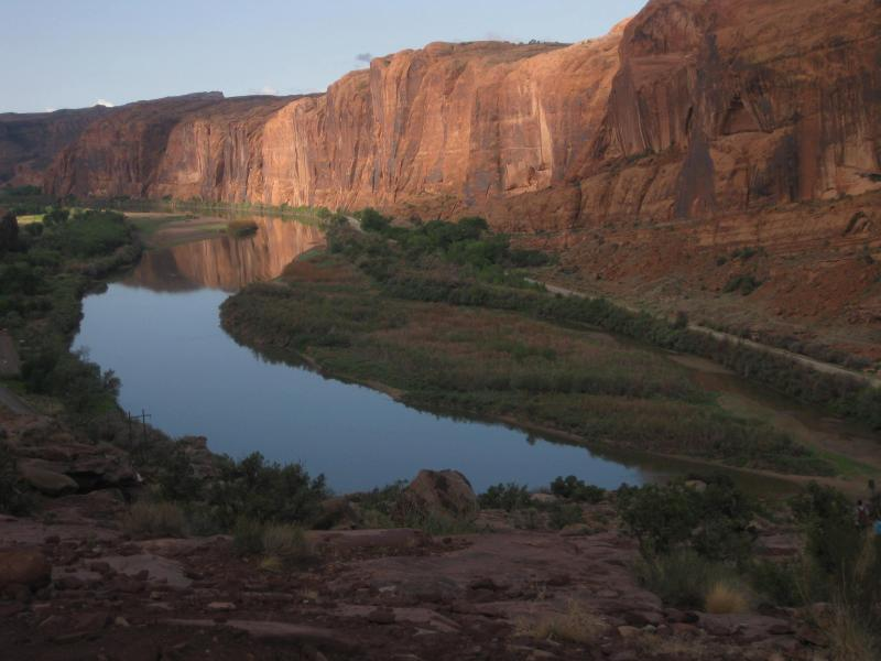 View of the Colorado River along the Moab Rim Trail just minutes away from the townhome