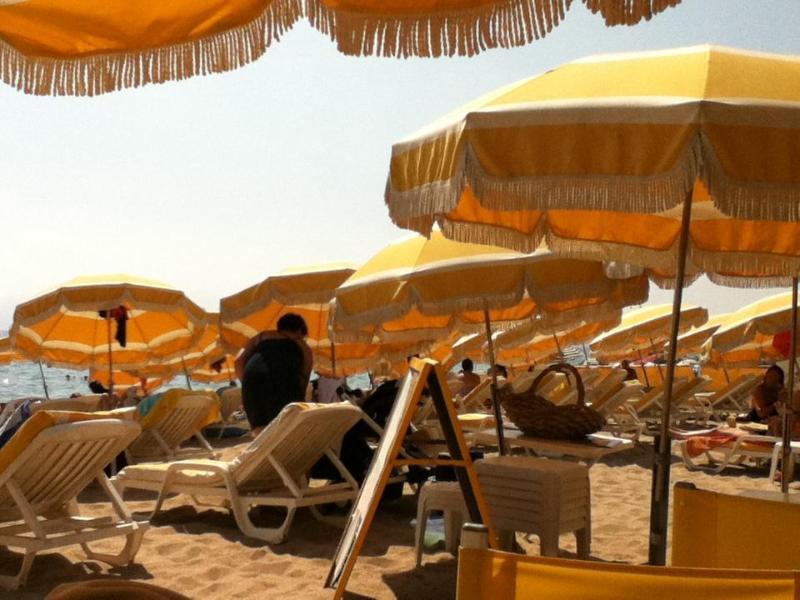 The local beach at Page du Midi