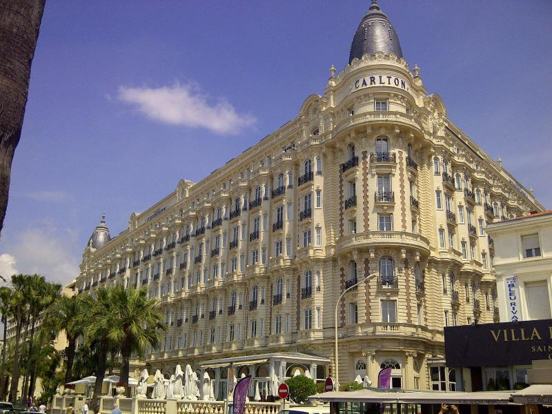 The famous Carlton Hotel, nearby in Cannes