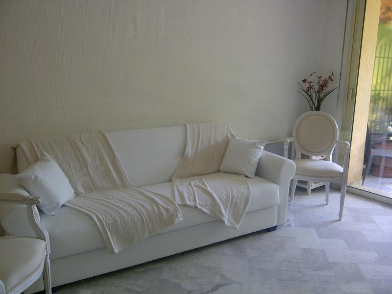The sofa bed in the living room