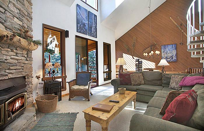 Aspen Creek #228 Living Area Is Very Bright and Has High Ceilings
