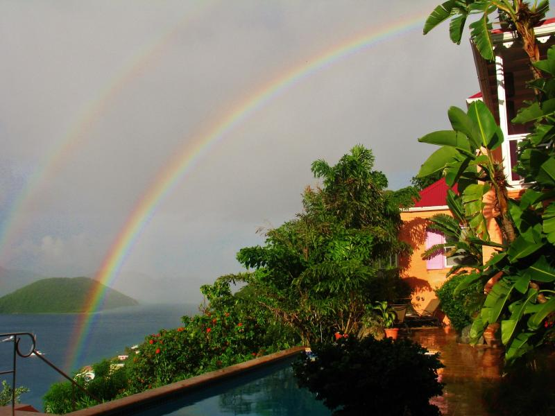 Often a rainbow, or two