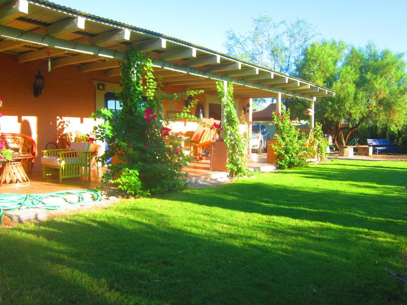 The house has a large lawn, rare for Tucson!