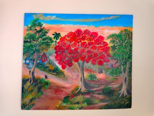 Colorido arte hecho por un artista local.