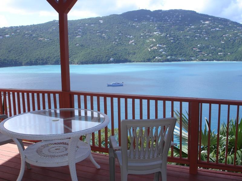 Balcony off the Second Master Suite. Yachts and jet skiers are a common sight.
