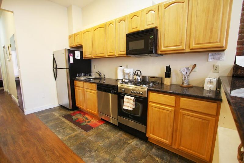 Kitchen with Stove, Refrigerator, Dishwasher, and Microwave,