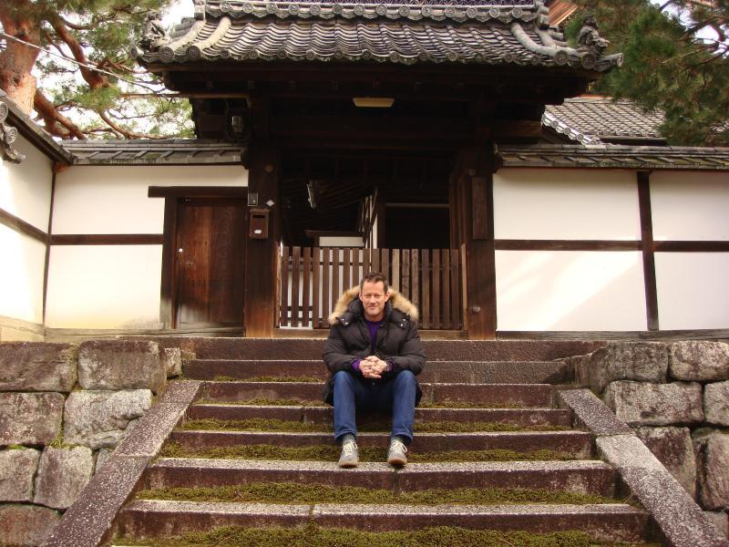 The owner, Curtis, at Kenninji Temple, next door
