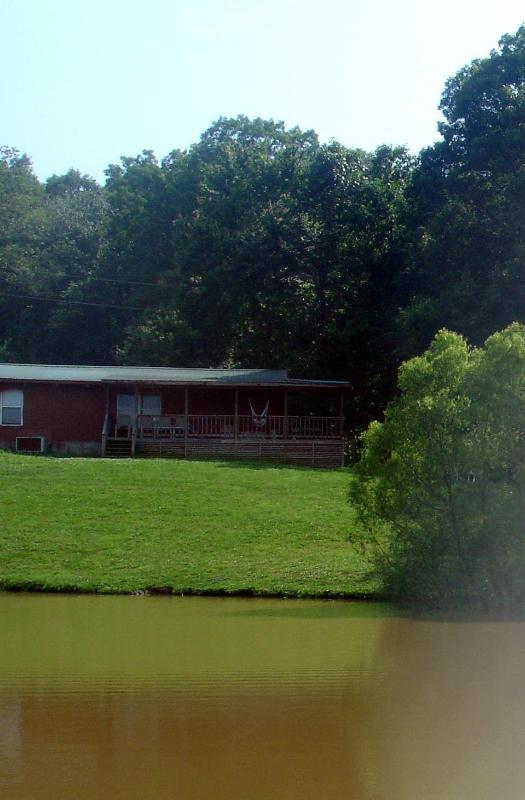 Cabin overlooking Pond