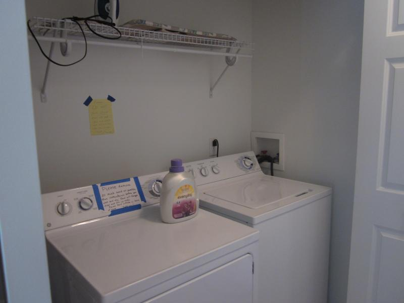 Washer and dryer conveniently located on second floor