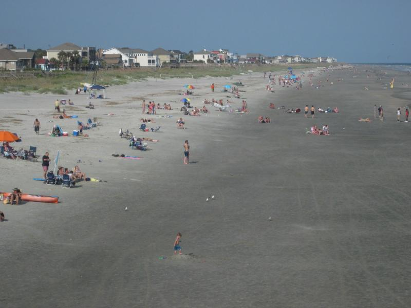 Six miles of beach ensure that there's plenty of room for everyone!