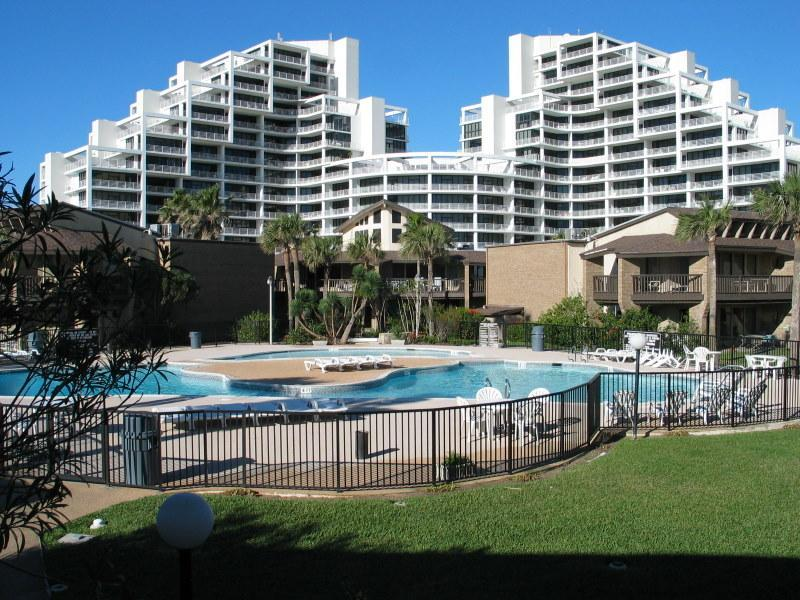 View from over the 2nd swimming pool/hot tub