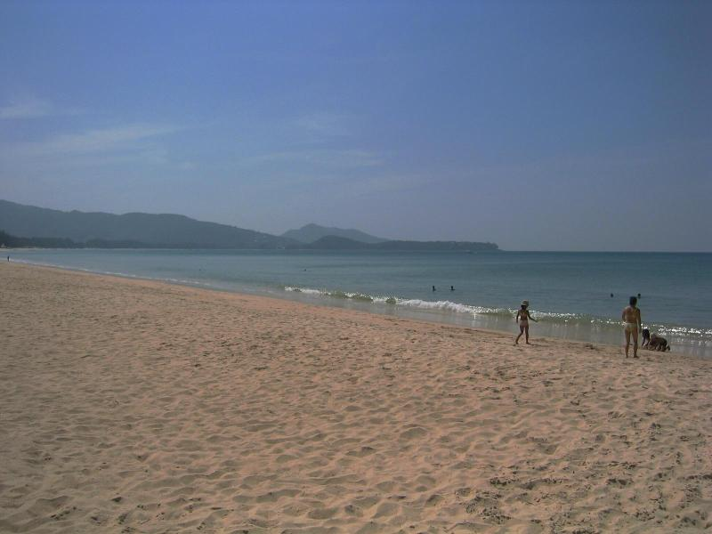 Bangtao bay just 5 minutes away: 8 km stretch of white sand beach