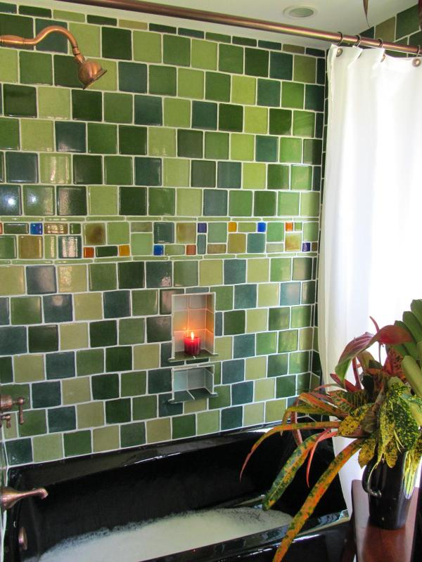 Hand-made glass tiles