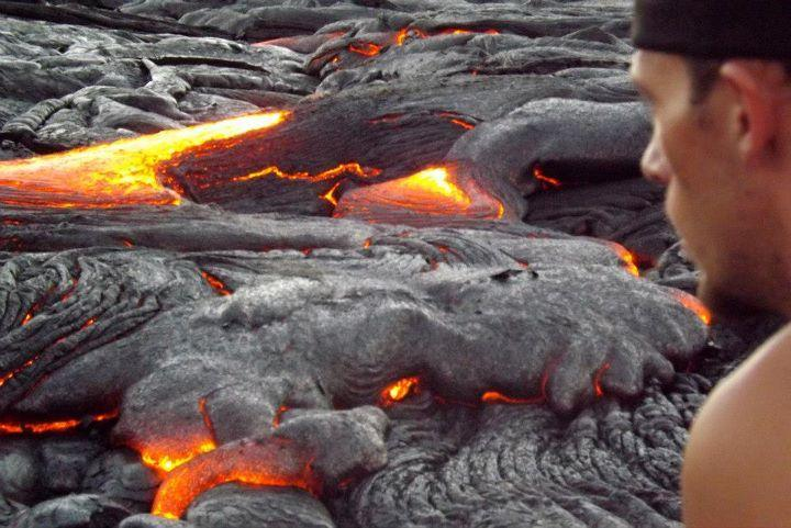 Visiting the volcano