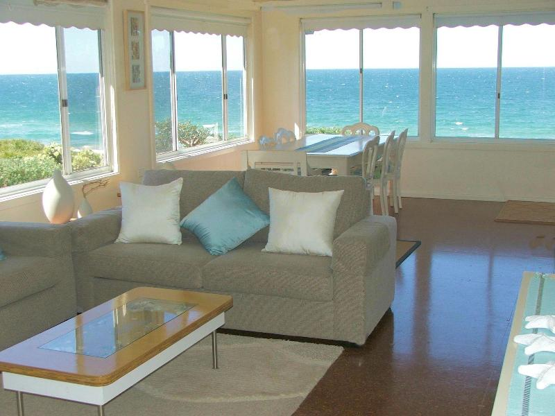 Living room looking onto Culburra Beach