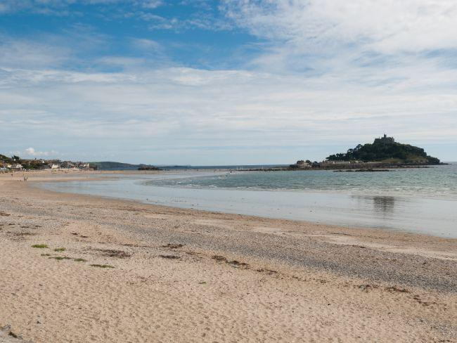 Sandy beach within walking distance of the property