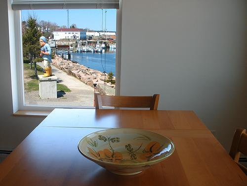 View of harbor to north from Tide Watcher dining area