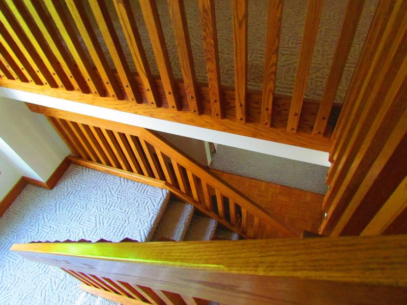 Staircase with solid oak