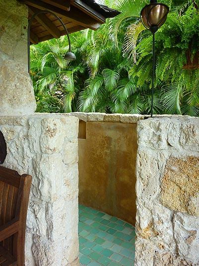 Guests LOVE the fabulous outdoor shower