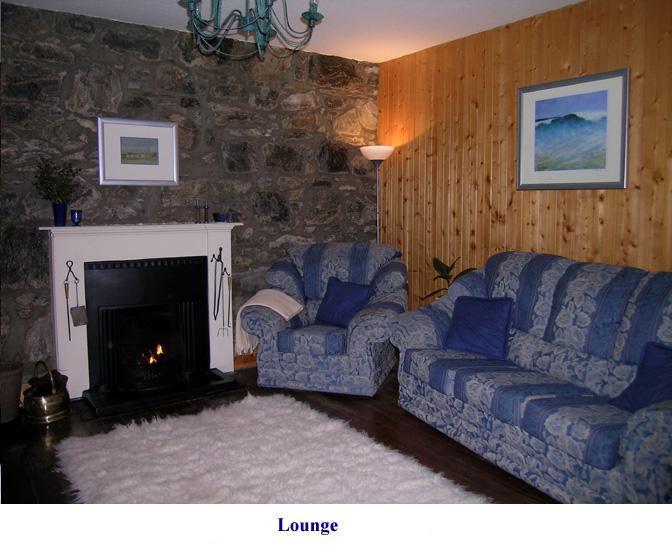 Lounge con fuoco di torba
