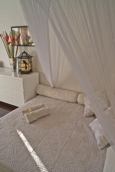 Third bedroom with Latex and sponge matress with 100% cotten sheets and soft lighting