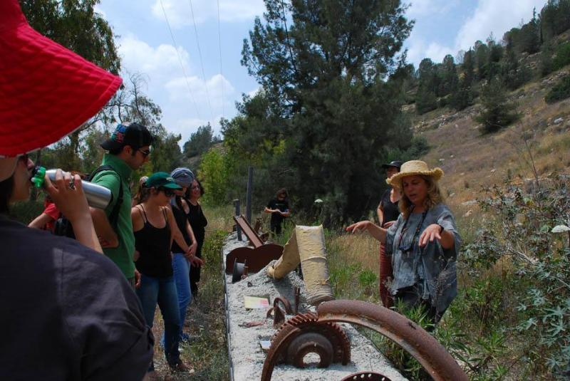 eco-tours in the area- stream reclamation by Shai Zakai selected by Google Earth as one of world 20 influential eco-art projects in the world
