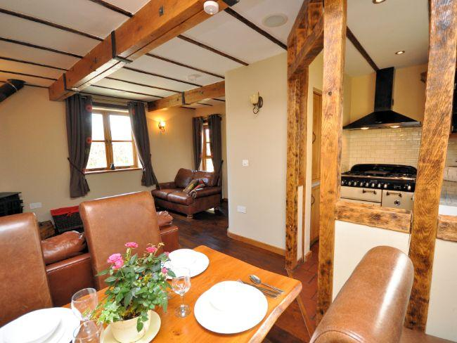 Comfortable living area with woodburner