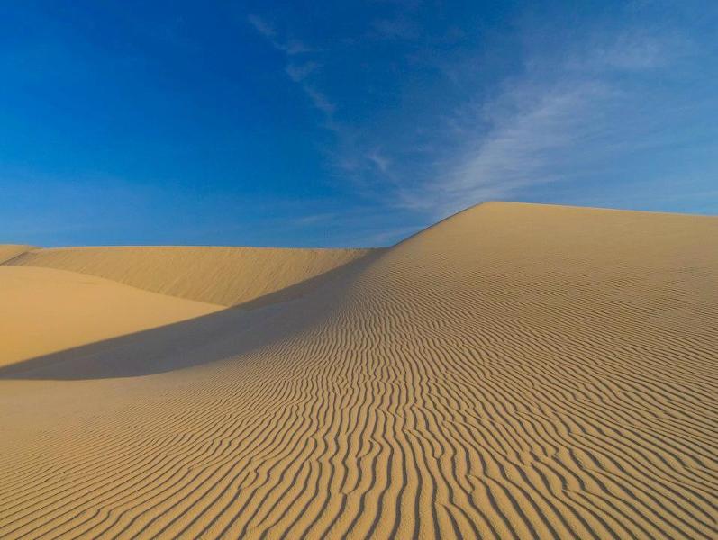 Dunas de arena blanca