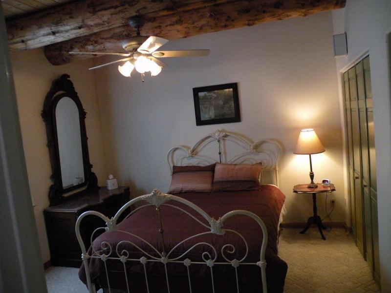 Very nice Elliott Queen bed in the master bedroom.