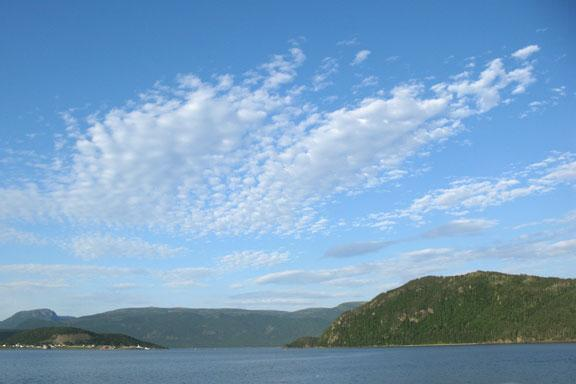 Sky over Bonne Bay