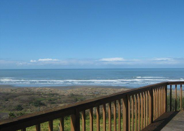 Ocean, Beach, and dune views from wrap around deck