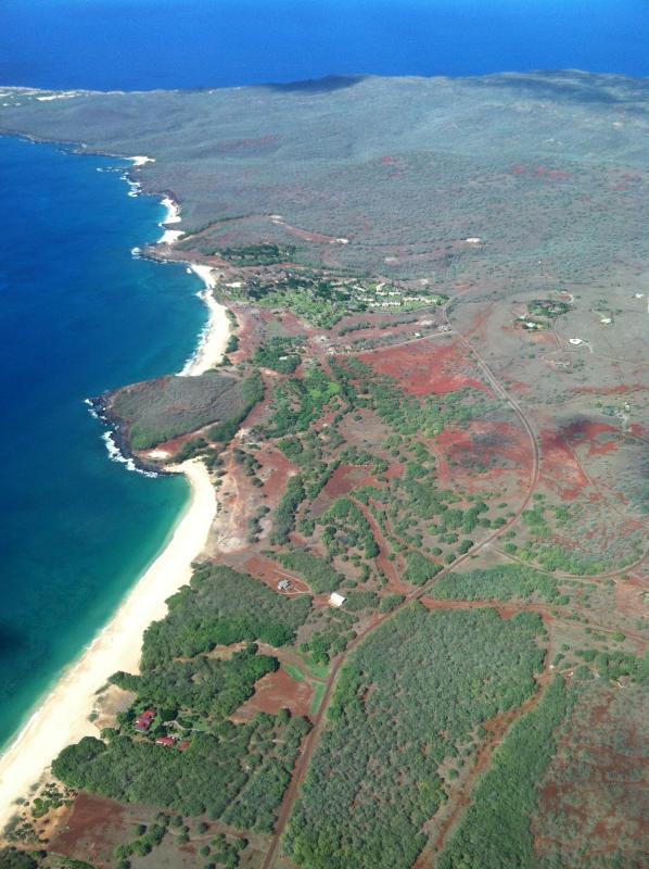 Aerial View of Molokai's West End Beaches