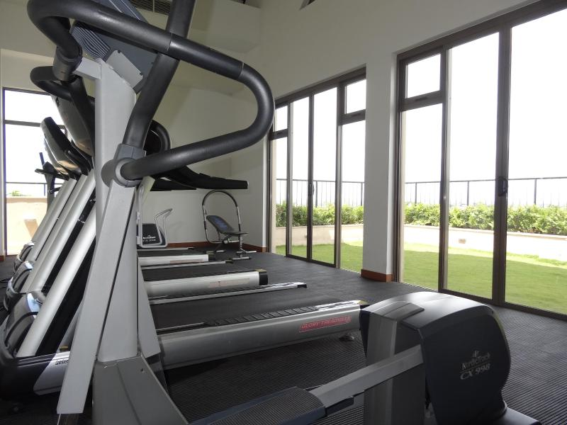 Gym in Roof Top area with garden view