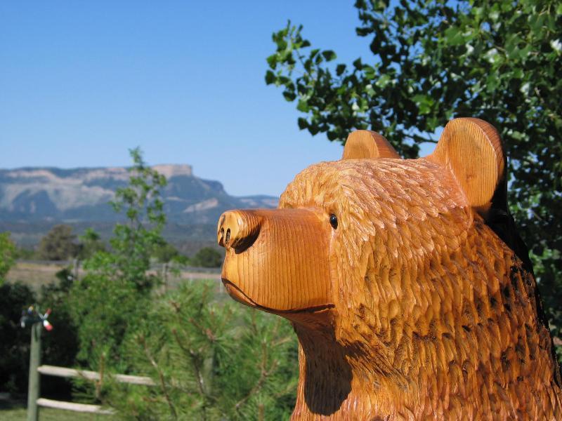 Vista di Mesa Verde dal portico anteriore Sundance orso