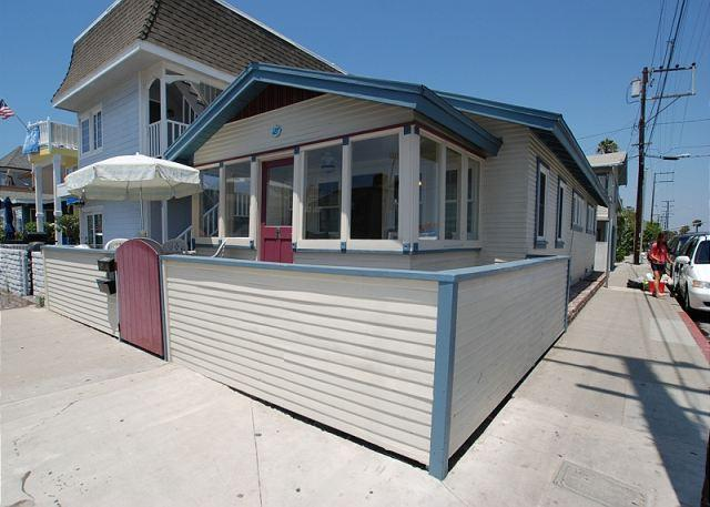 Cute beach cottage on the corner of 30th Street and Balboa Blvd.