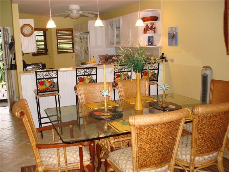 Vista della cucina e sala da pranzo