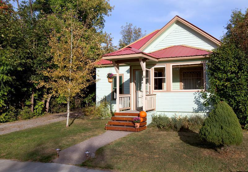 Street view of our this lovely, historic, downtown Whitefish home.