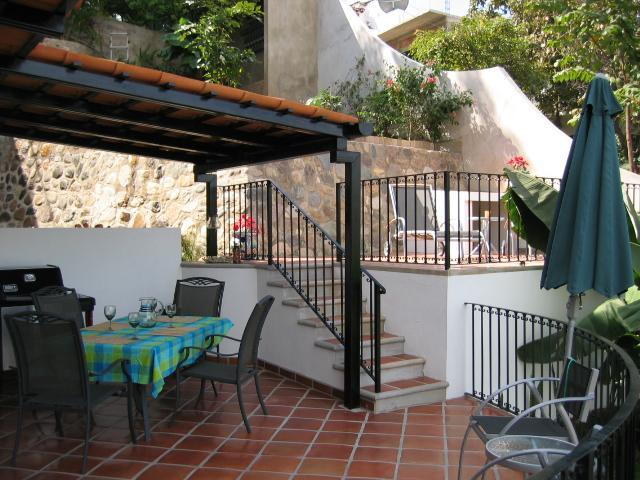 Double Deck Patio with Covered Dining Area & Grill