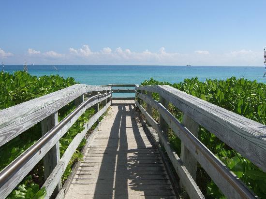 Walkaway to the Beach from resort