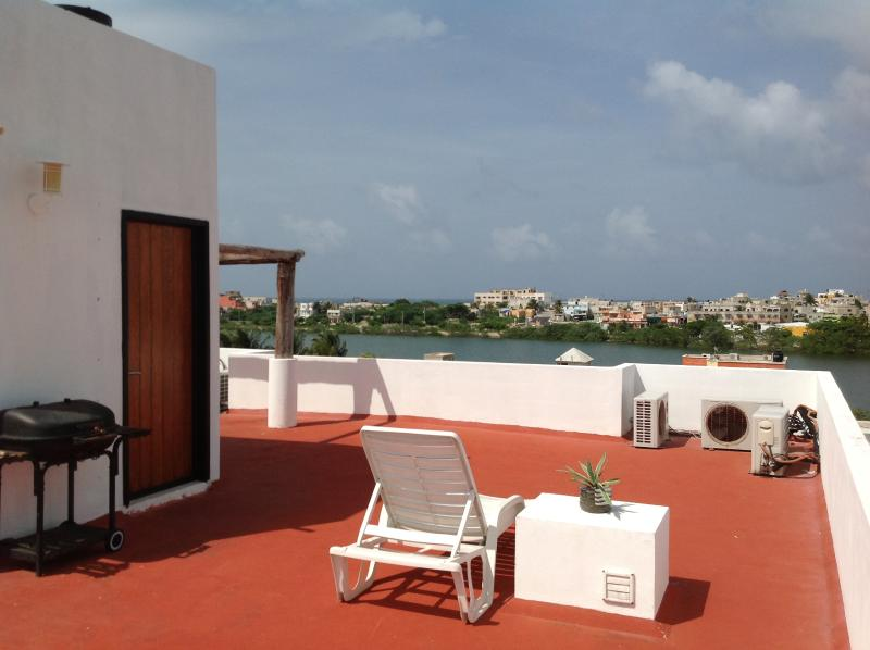 Barbeque, sip wine or sun bathe on the roof top terrace