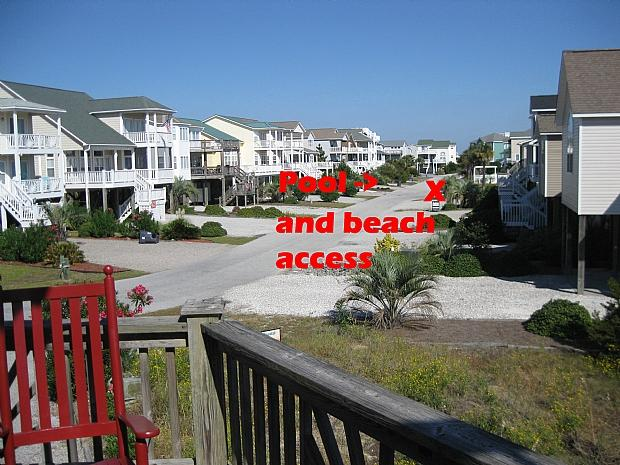 Pool and beach access 200' from house
