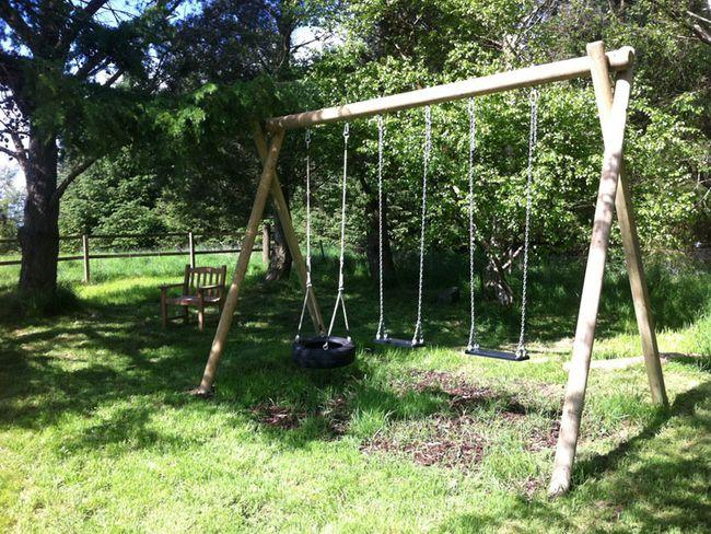 Garden swings for the children to enjoy